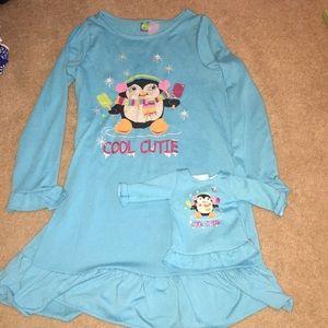 EUC Sz 12 Dollie   Me Matching Nightgowns 52b08f7e7